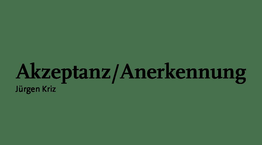 Akzeptanz/Anerkennung