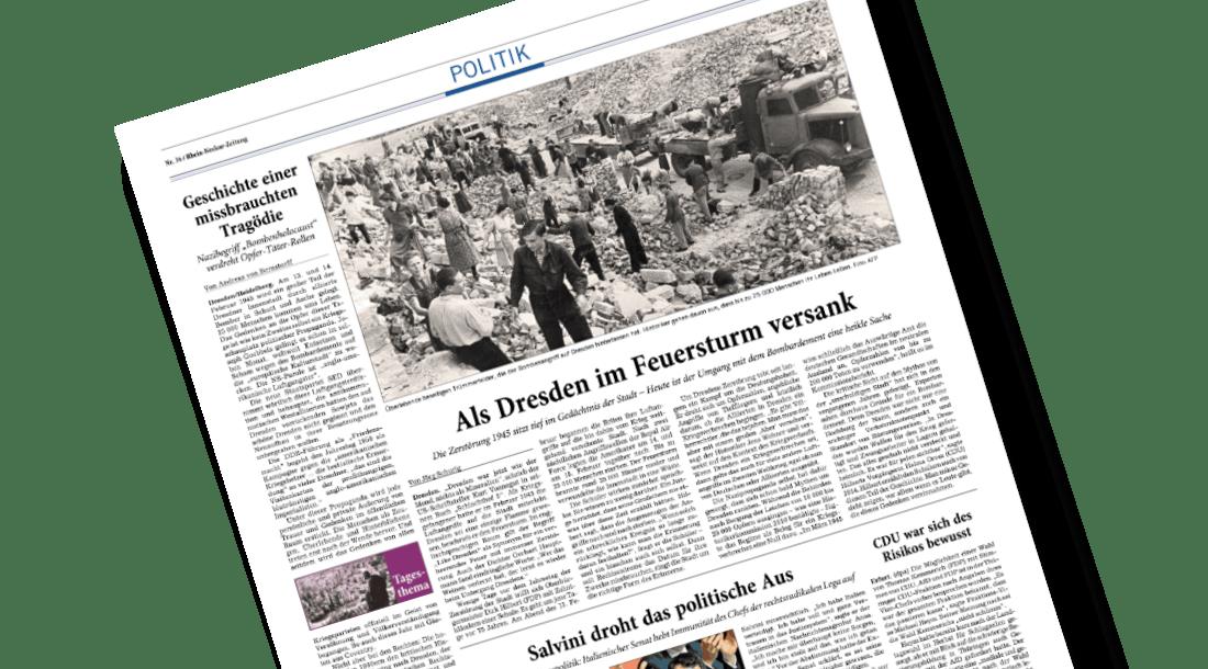 Andreas von Bernstorff in der Rhein Neckar Zeitung