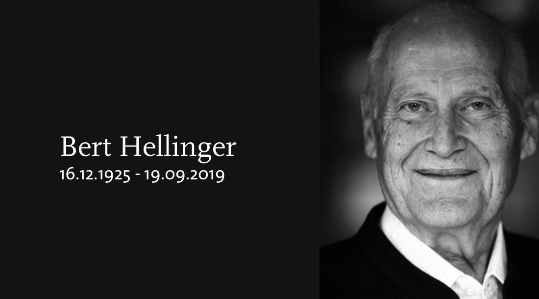 Ein Nachruf auf Bert Hellinger von Gunthard Weber