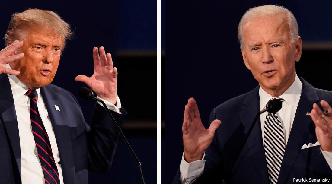 """""""Unter-Brecher"""" gegen """" Kontakt-Mann"""" - Was uns die Körpersprache von Trump und Biden verrät  Teil 1"""