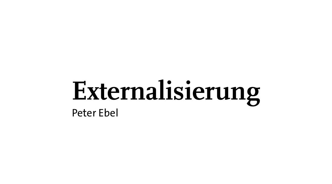 Externalisierung
