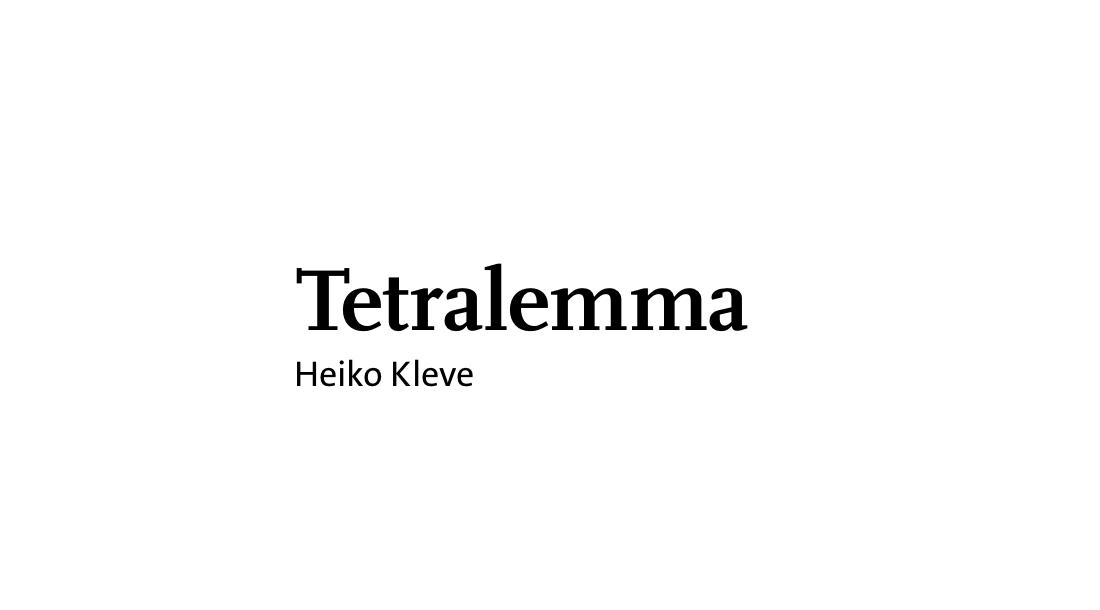 Tetralemma