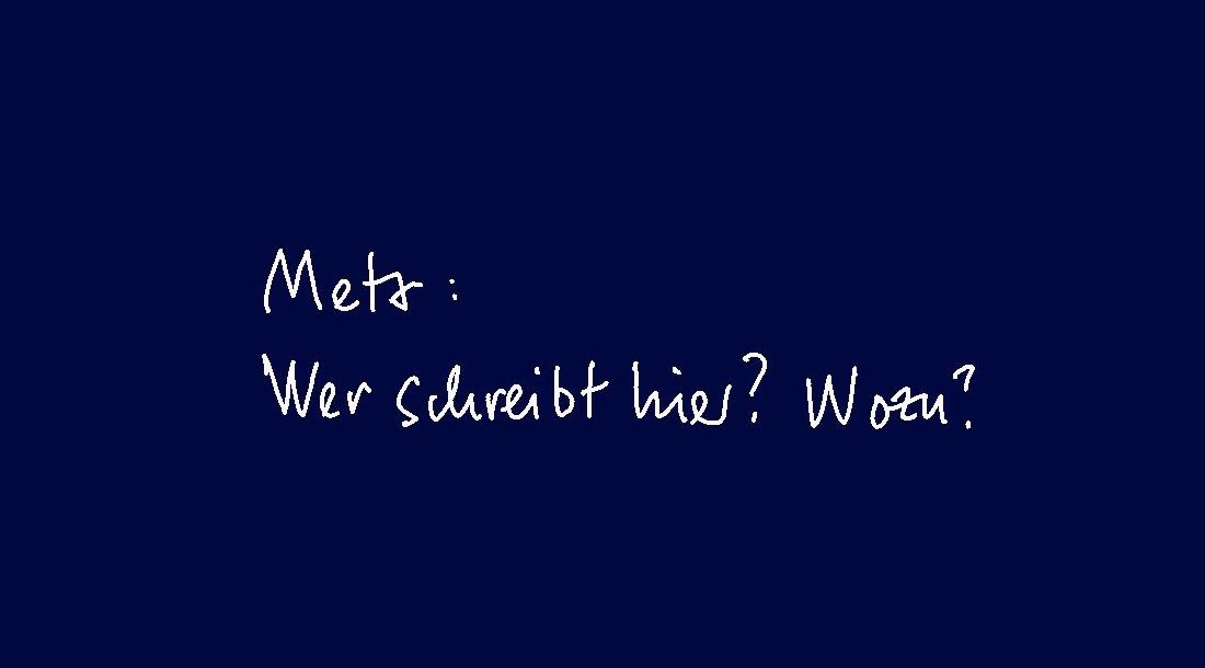 (2) META - Wer schreibt hier? Wozu?