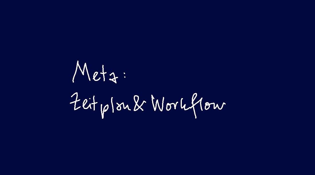 (3) META - Zeitplan & Workflow